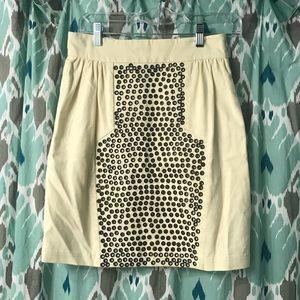 Loeffler Randall grommet skirt in off white